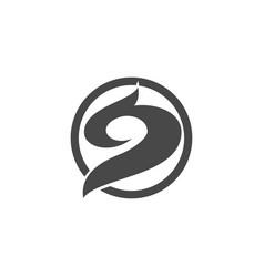 circle abstract art logo vector image