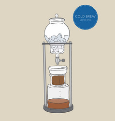 Cold brew coffee makers for coffee shop brewing vector
