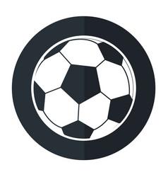Football ball sport play shadow vector