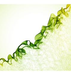 green wave abstract background vector image vector image
