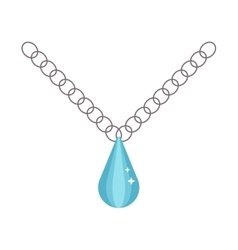 Pearl necklace decoration vector