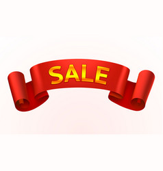 tape red text sale on the white background vector image