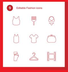 9 fashion icons vector