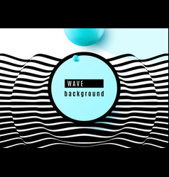 abstract background design with stripe wavy vector image