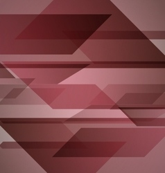 Abstract red background with geometric shapes vector
