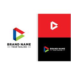 Ac logo triangle bold editable vector
