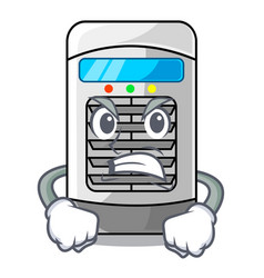 Angry air cooler isolated with cartoon vector