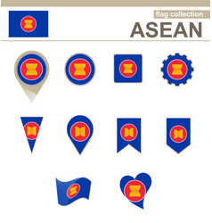 Asean flag collection vector