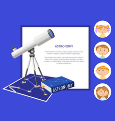 Astronomy subject at school discipline and kids vector