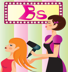 beauty-parlor vector image