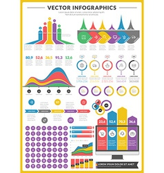 Big pack data visualization infographics and vector