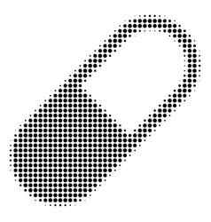 Black dot medication granule icon vector