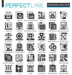 business analytics classic black mini vector image