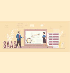 business software service for project analysis vector image