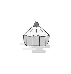 cake web icon flat line filled gray icon vector image