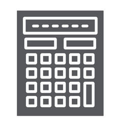 calculator glyph icon mathematics and accounting vector image