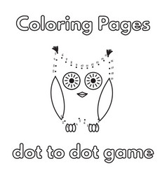 cartoon owl coloring book vector image