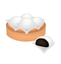 Chinese Steamed Bun and Black Bean Stuff vector
