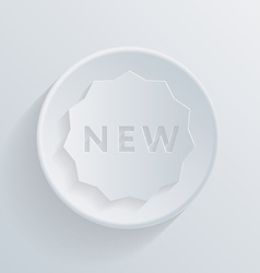 circle icon with a shadow label new vector image
