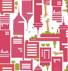 cityscape pattern vector image
