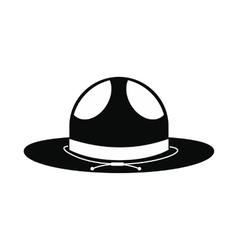 Cowboy hat icon simple style vector