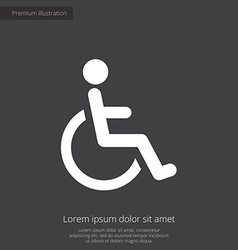 cripple premium icon white on dark background vector image