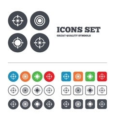 Crosshair icons target aim signs symbols vector