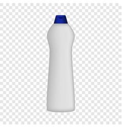 Detergent bottle mockup realistic style vector
