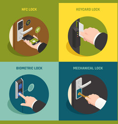 doorlock systems design concept vector image