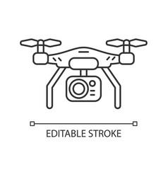 Drone camera linear icon vector