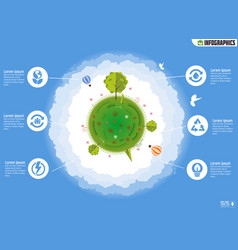ecology infographics environmental template vector image