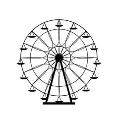 Ferris wheel silhouette circle Carnival Funfair vector