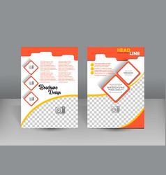 Flyer design template orange and sweet concept vector