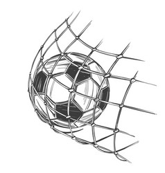 football soccer ball sports game emblem sign vector image