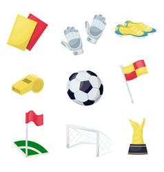 Football sport equipment soccer ball hobby vector