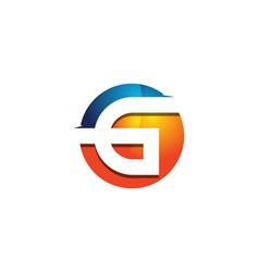 G 3d colorful circle letter logo icon design vector
