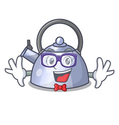 Geek steel whistling kettle character to make vector