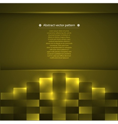 Geometric pattern with glowing accents vector