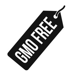 gmo free price tag i icon simple style vector image