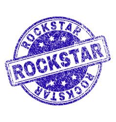 Grunge textured rockstar stamp seal vector