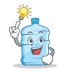 Have an idea gallon character cartoon style vector