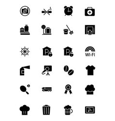 Hotel and Restaurant Icons 9 vector