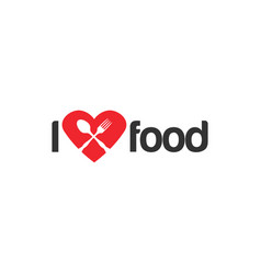 i love food graphic design template vector image