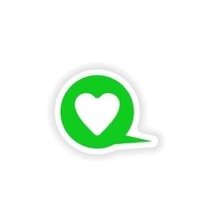 Icon sticker realistic design on paper logo heart vector
