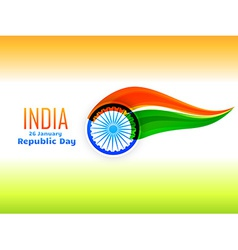 indian republic day flag design made in wave style vector image