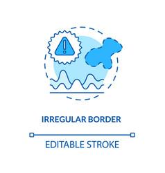 Irregular border concept icon vector