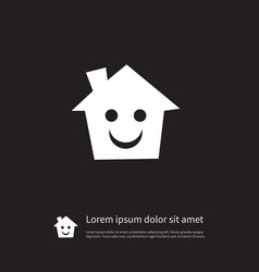 Isolated smile icon mortgage element can vector