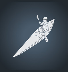 kayaking logo icon vector image
