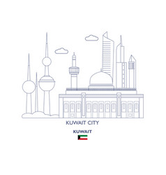 Kuwait city skyline vector