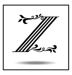Letter z made with leaves vector image